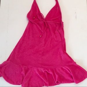 Polo Ralph Lauren Pink Terry Cover-Up Halter Dress